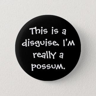 Possum Costume Button