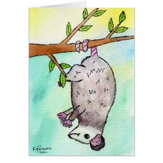 Possum Danglin' Greeting Card