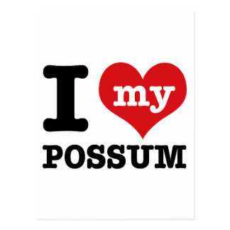 Possum designs postcard