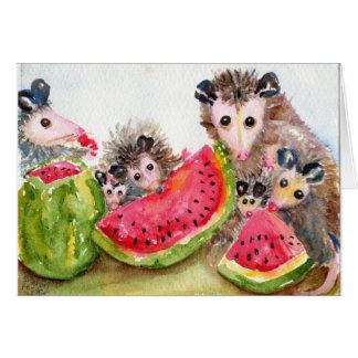 Possum Family Picnic Cards