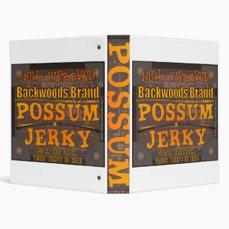 POSSUM JERKY 3 RING BINDERS