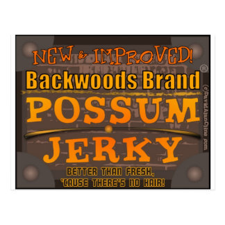 POSSUM JERKY xl Postcard