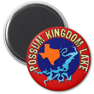 Possum Kingdom Lake, Texas 2 Inch Round Magnet