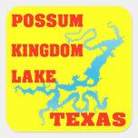 Possum Kingdom Lake, Texas Square Stickers