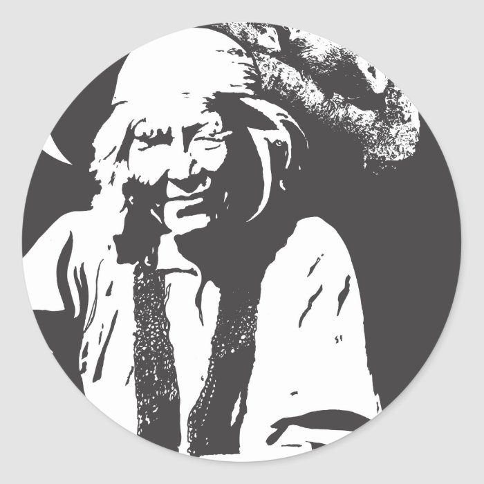 Possum Lady Classic Round Sticker