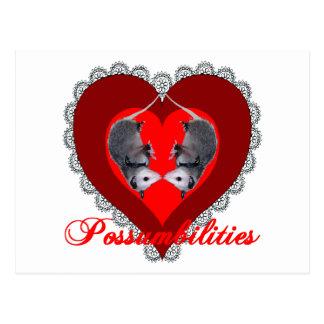Possum Love Postcard