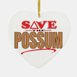 Possum Save Ceramic Ornament