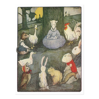 Possum Schoolmarm with Class Postcard