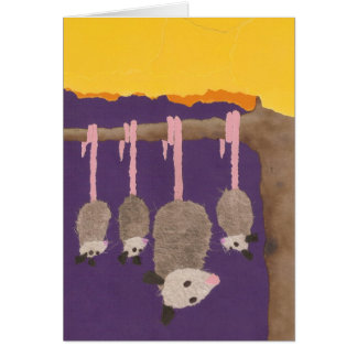 """Possums"" greeting card"
