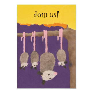 """Possums"" invite card"
