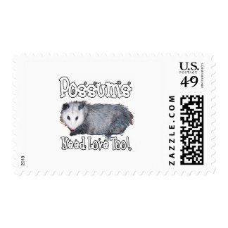 Possums Need Love Too Postage Stamps