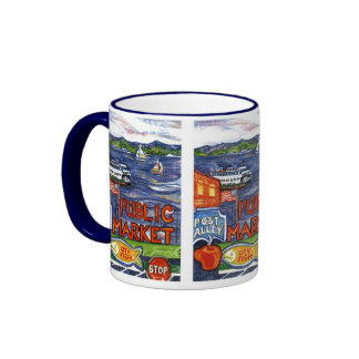 Post Alley with Ferry Mug