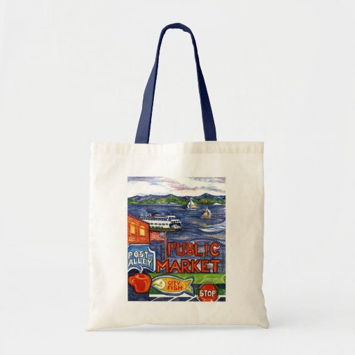 Post Alley with Ferry Tote Bag