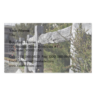 Post and Rail Fence Business Card