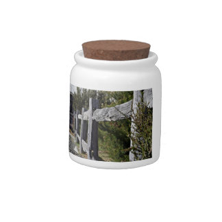 Post and Rail Fence Candy Jars