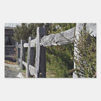 Post and Rail Fence Rectangular Sticker