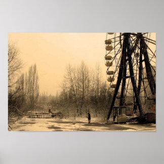 Post Apocalypse Ferris Wheel Poster