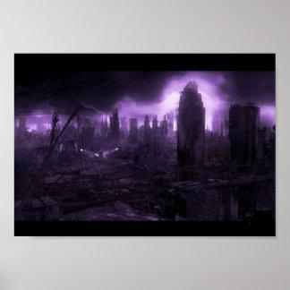 Post Apocalyptic City Poster