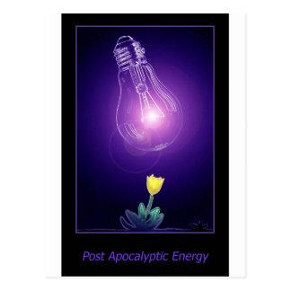 Post Apocalyptic Energy Postcard
