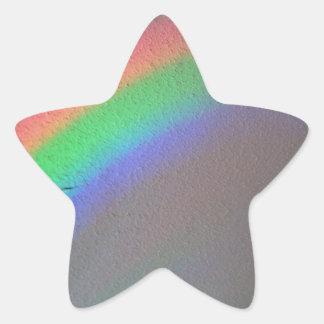 post apocalyptic rainbow star sticker