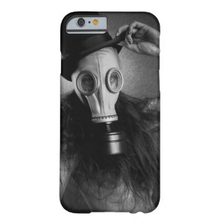 post-apocalyptic steam punk gas mask girl barely there iPhone 6 case