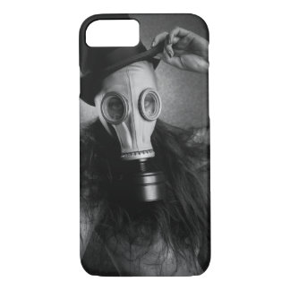 post-apocalyptic steam punk gas mask girl iPhone 8/7 case