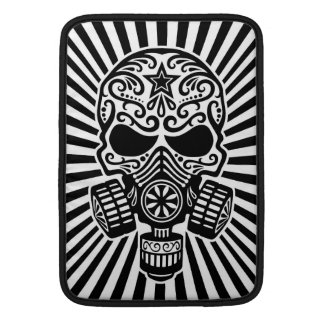 Post Apocalyptic Sugar Skull, black and white MacBook Sleeve