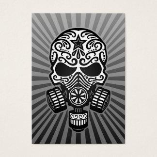 Post Apocalyptic Sugar Skull, grey Business Card