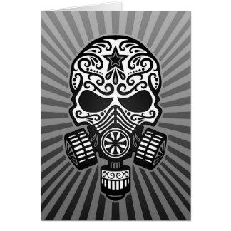 Post Apocalyptic Sugar Skull, grey Card