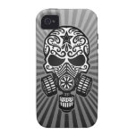 Post Apocalyptic Sugar Skull, grey Case-Mate iPhone 4 Cases