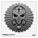 Post Apocalyptic Sugar Skull, grey Wall Decals