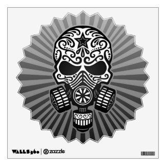 Post Apocalyptic Sugar Skull, grey Wall Sticker