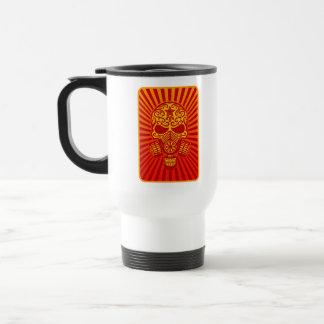Post Apocalyptic Sugar Skull, red Mug