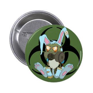 Post-Apocalyptic Survivor Bunny Button