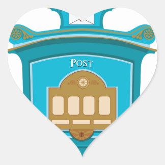 post box heart sticker