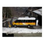 Post Bus waiting to return to Interlaken Post Cards