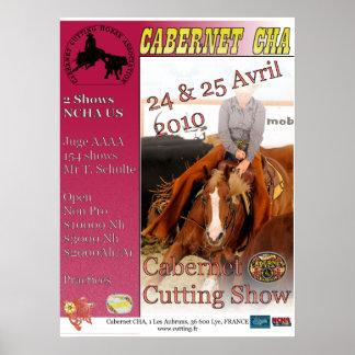 Post Cabernet Cutting Show April 2010 Poster