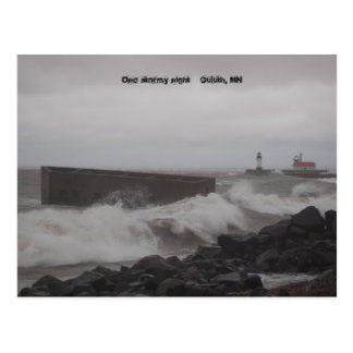 post card2 003, One stormy night    Duluth, MN Postcard
