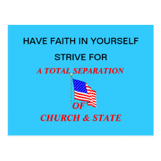 Post Card A TOTAL SEPARATION OF CHURCH STATE