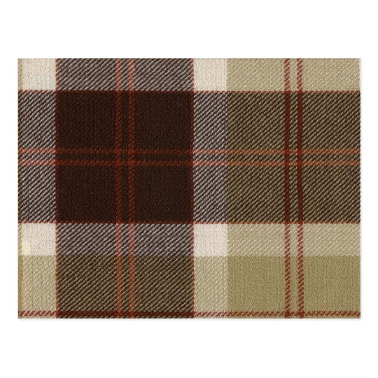 Post Card Bannockbane Tartan Print
