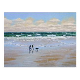 Post Card Beach Dog Walk