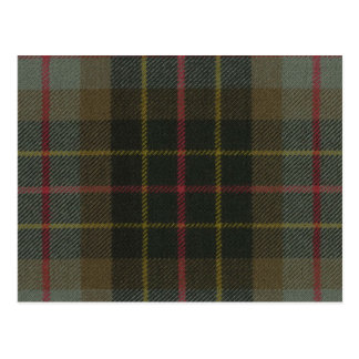 Post Card Brodie Hunting Weathered Tartan Print