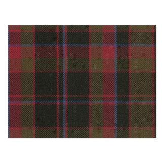 Post Card Buchan Clan Weathered Tartan Print