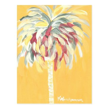 Beach Themed Post Card- Canary Yellow Palm Tree Postcard