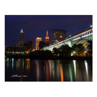 Post Card Cleveland Skyline