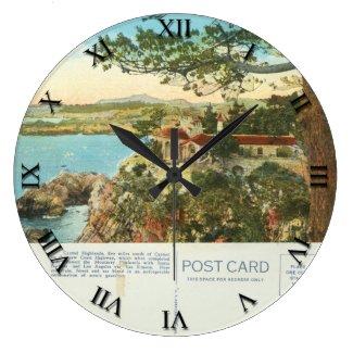 Post Card Clock - Carmel Bay California