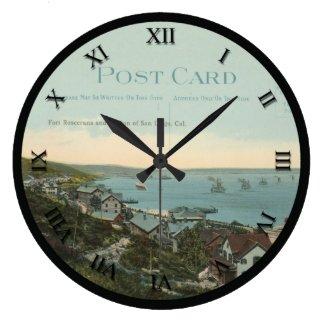 post card clock - Fort Rosecrans & San Diego, CA