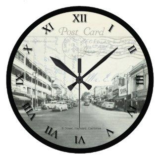 Post Card Clock - Hayward California 1945