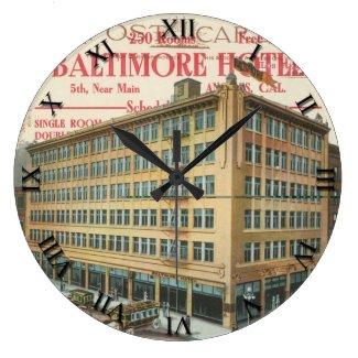 Post Card Clock - Los Angeles, CA Baltimore Hotel