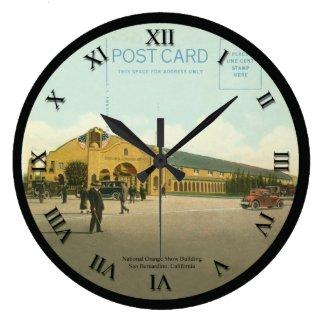 post card clock - San Bernardino California